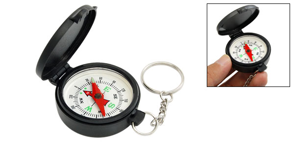 Portable Round Mini Keyring Sports Compass