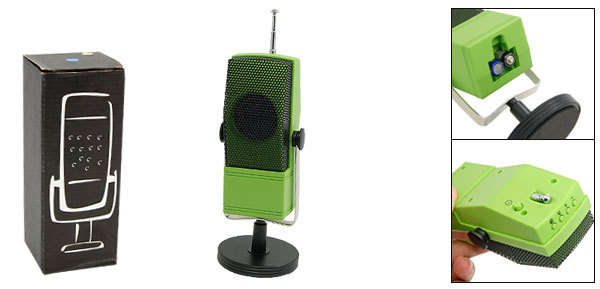 Green Desk FM Radio Stylish Receiver FM88-108MHz