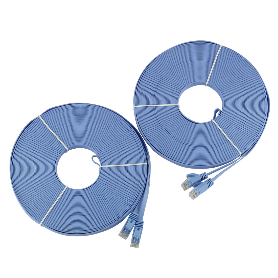 98FT-30M-CAT6-CAT-6-Flat-UTP-Ethernet-Reseau-Cable-RJ45-Patch-LAN-Cord-Bleu