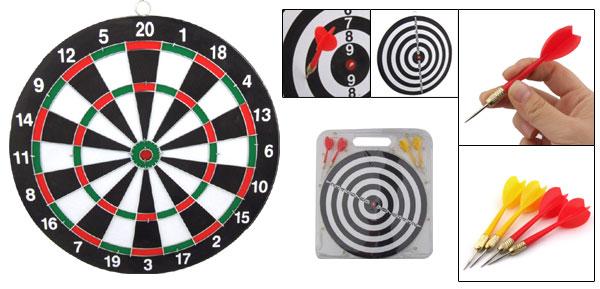 11.7 Inch Dart Board Dartboard Game Toy with 4 Darts