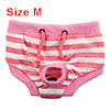 Pet Dog Puppy Cotton Blends Striped Hygiene Diaper Nappy Sanitary...