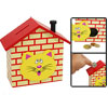 House Shaped Wooden Coin Bank Box Piggybank for Kids