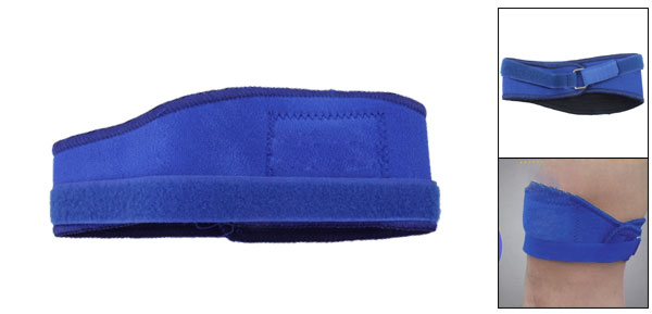 Blue Adjustable Neoprene Sports Knee Support Protector Pmnpn