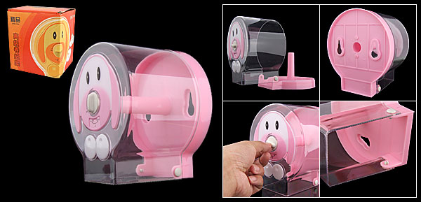 Bathroom Tissue Paper Dispenser Roller Holder Pink