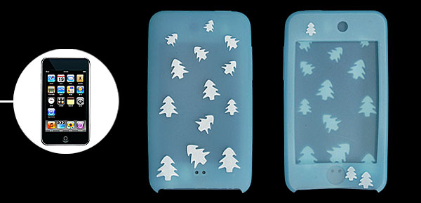 Light Blue Silicone Back Case for iPod Touch II