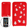 Xmas Tree Silicone Skin Case for iPod Touch II Red