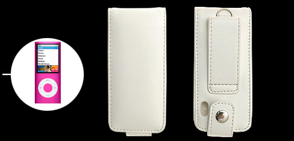 Leather Case Cover for iPod Nano 5th Generation White