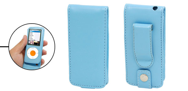Skyblue Leather Case Cover for iPod Nano 4th Generation