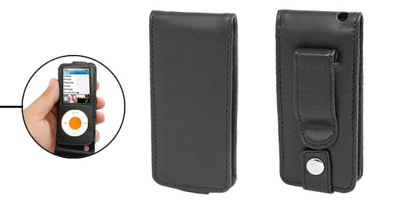 Leather Black Case Cover for iPod Nano 4th Generation