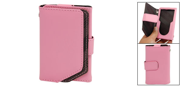 Pink Faux Leather Case Cover for iPod Classic
