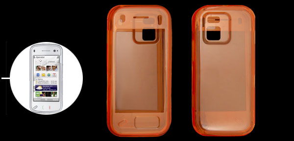 Orange Soft Plastic Case for Nokia N97 mini