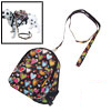 Doggie Pet Backpack Leash Love Heart Pattern Bag