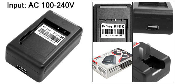 US Plug AC 100-240V Wall USB Battery Charger for Sharp SH9110C