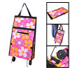 Fold Flower Print Storage Shopping Carrying Tote Bag