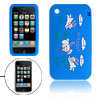Blue Silicone Skin Case Rabbit Style Cover for Apple iPhone 3G
