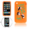 Panda Design Orange Silicone Skin Case Cover for Apple iPhone 3G