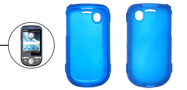 Blue Rubberized Plastic Case Cover for Dopod A3288