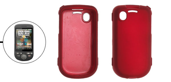 Red Rubberized Hard Plastic Case Cover for Dopod A3288
