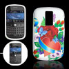 Flower Heart Soft Plastic Case White for Blackberry 9000