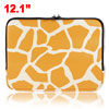 Yellow Giraffe Style 12.1 Inch Laptop Faux Leather Case Bag