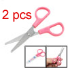 Mini Craft Paper Home Office School Scissors Pink Hand Grips 2pcs