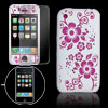 Screen Guard White Silicone Flower Cover Case for iPhone 3G