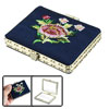 Lady Rectangle Flowered Decor Chinese Make Up Mirror Beauty Tool ...