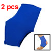 Ankle Support Elastic Foot Protector Sports Wrap Blue 2pcs