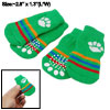 4 PCS Pet Dog Green Warm Anti-slip Striped Soft Socks