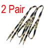 2 Pair Sneakers Camouflage Flat Shoelaces Wide Shoes Strings