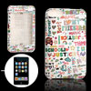 Colorful Graffiti Letter Plastic Case Cover for iPod Touch 2G
