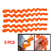 5 Pcs Orange Latex Long Twisting Balloons Party Favors