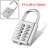 5-Digit Luggage Metal Combination Padlock Backpack Lock