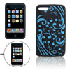Spoondrift Print Silicone Skin Shell Cover for iPod Touch 2G Blac...
