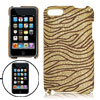Gold Tone Glittery Brown Strips Hard Plastic Case for iPod Touch ...