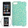 Green Glittery Flower Pattern Plastic Case for iPod Touch 3G