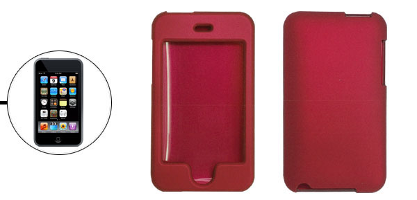 Red Hard Plastic Rubberized Case for Apple iPod Touch 2th Generation