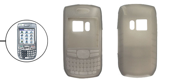 Grey Silicone Skin Case Shell Guard for Palm Treo 680