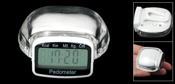 Multifunction Digital Clock Pedometer Step Counter