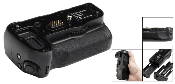 Vertical Digital Camera Battery Grip for Pentax K7