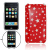 Little Stars Pattern Plastic Case for iPhone 3G Red Cover