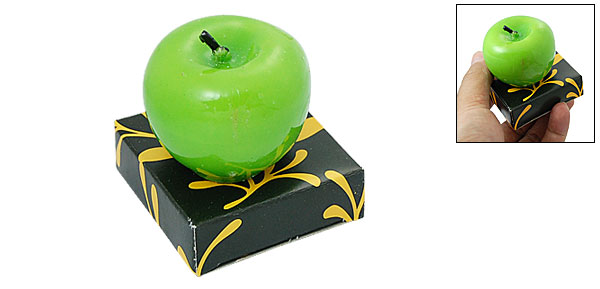 Apple Shape Green Decorative Party Candle Birthday Gift