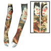 Long Elastic Tattoo Devil Pattern Men Arm Warmer Glove