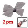 Butterfly Knot Plastic Crystal Light Grey Plush Ha...