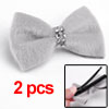 2pcs One Layer Butterfly Knot Plastic Crystal Ligh...