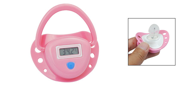 LCD Digital Baby Temperature Nipple Thermometer Pink