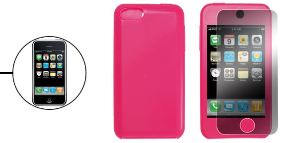 Silicone Case + LCD Screen Protector for iPod Touch 3rd Generation