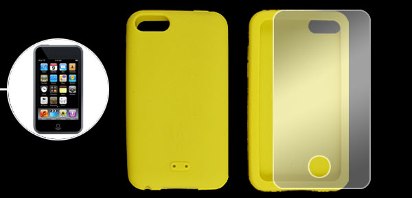 Screen Protector Slicone Skin Case for iPod Touch 3G Yellow