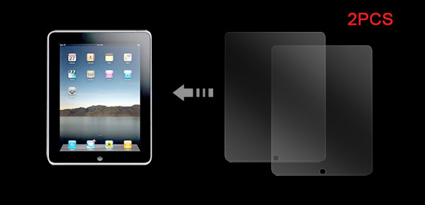 Notebook 2 pcs Clear Screen Protector for Apple iPad
