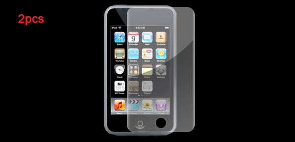 2 pcs Clear Screen Protector Guard for iPod Touch 3